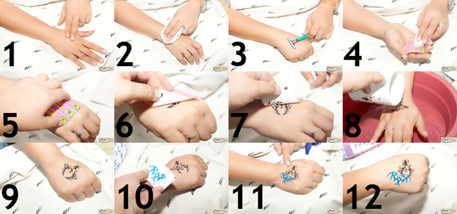 видео как наносить татуировку